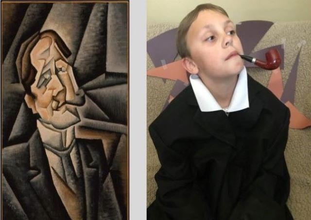 """Juan Gris"" by Juan Legua. Image recreated by Landon Slifka of Poland. (Contributed images)"