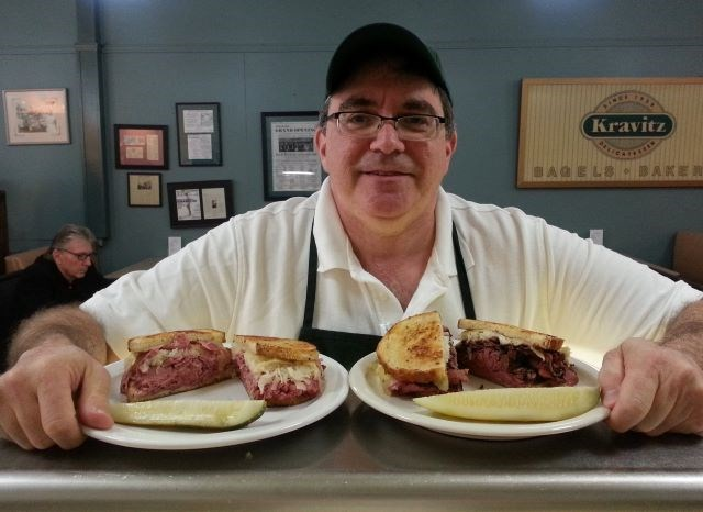 Jack Kravitz, owner of Kravitz Delicatessen, is ready to serve up new menu items for the annual Corned Beef Fest. (Contributed photo)