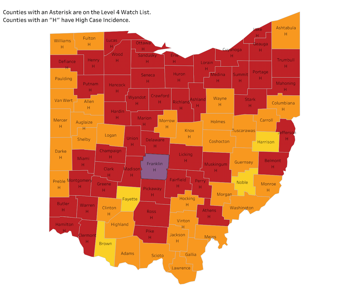 WEEKLY COVID-19 TRENDS | 'Purple' as in 'scarier than red' in Ohio