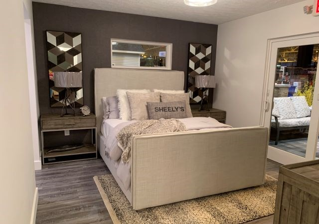 Sheely's provided furnishings and decor for the master bedroom in the 2020 Idea Home at the Great Big Home and Garden Show at the I-X Center in Cleveland. (Contributed photo)