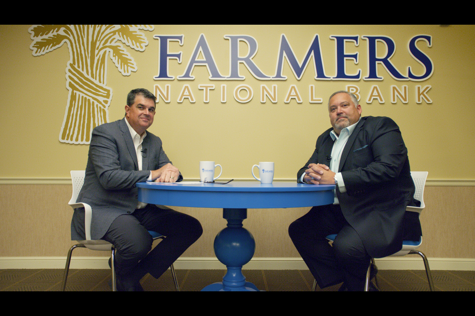 Kevin Helmick, President and CEO, Farmers National Bank (left); Chris Sammartino, COO, The Muransky Companies (Right)