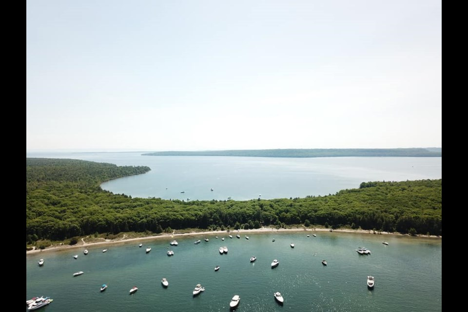 Boaters continue to flock to Beausoleil First Nation islands. Supplied photo