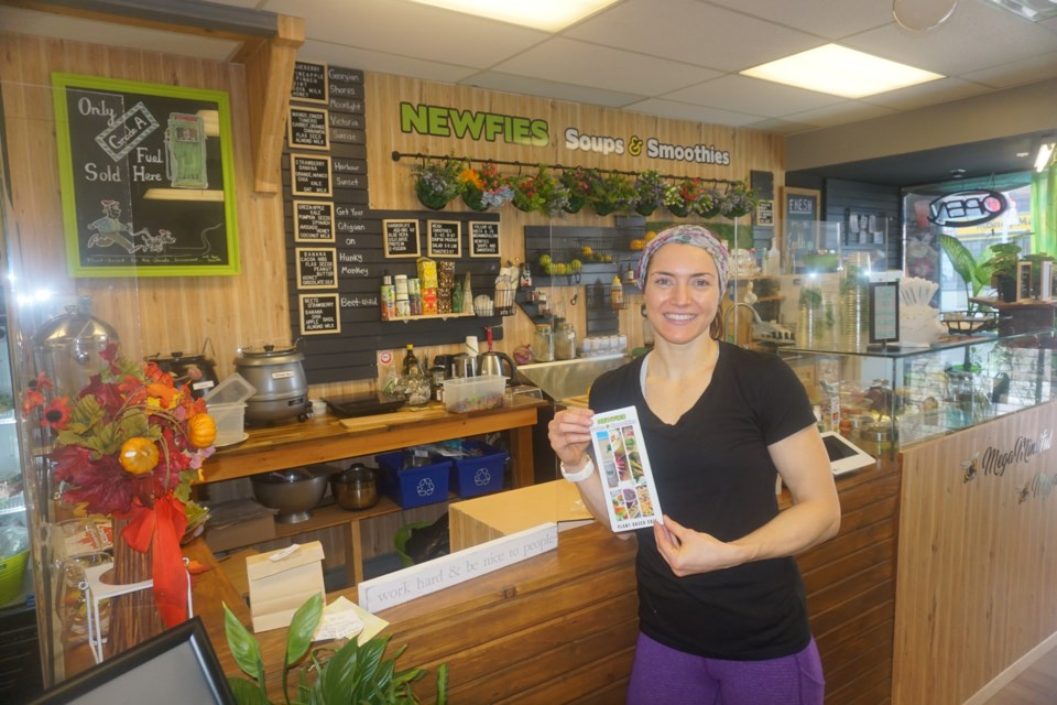 Megan Marchildon is pictured at the smoothie bar. Andrew Philips/MidlandToday