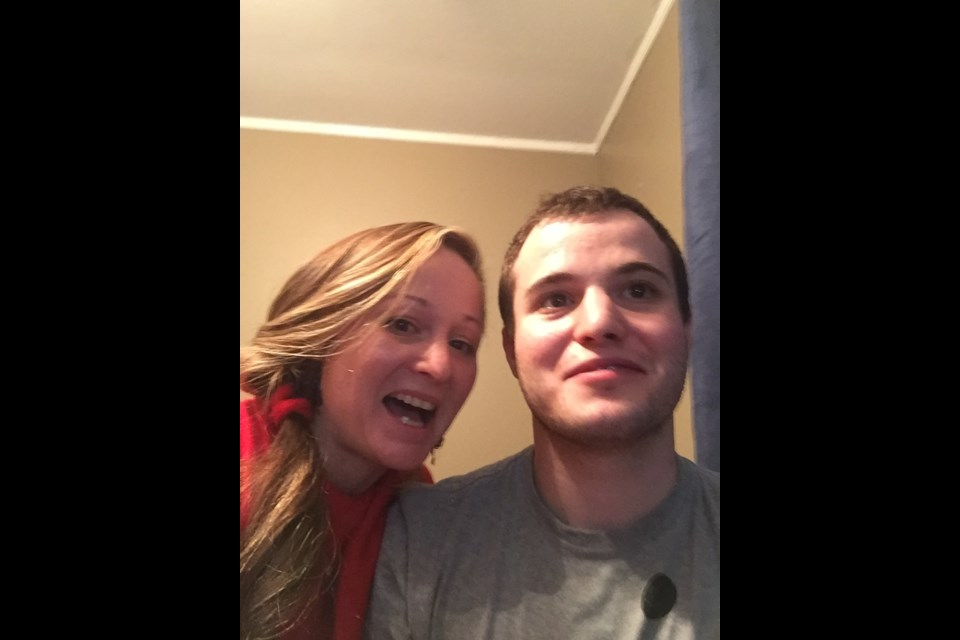 Angela Vos is pictured with her son Jordan Sheard.