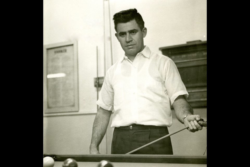 Nick Anest is shown at Uptown Billiards. Photo courtesy René Hackstetter.