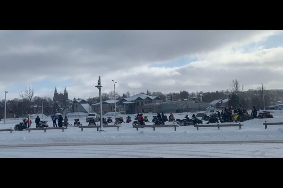 Snowmobile traffic on Jan. 23-24 in North Simcoe.
