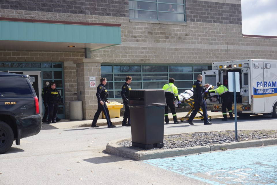 An incident at the Central North Correctional Centre led to a heavy police response Thursday morning. Andrew Philips/MidlandToday