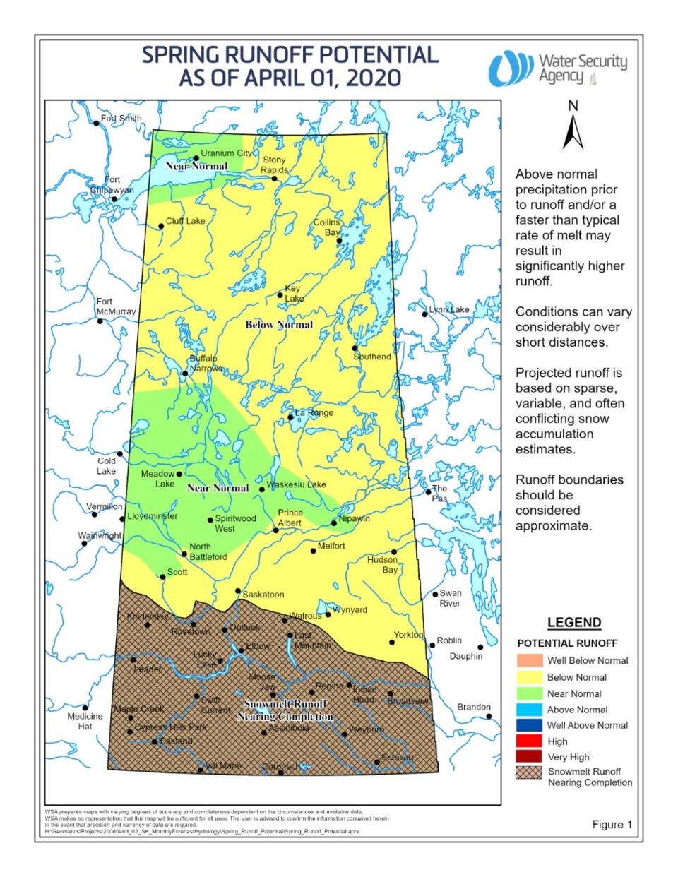 wsa spring runoff map april 2020