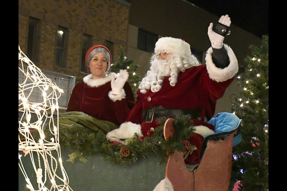 Santa and Mrs. Claus made their annual appearance at the end of the parade.