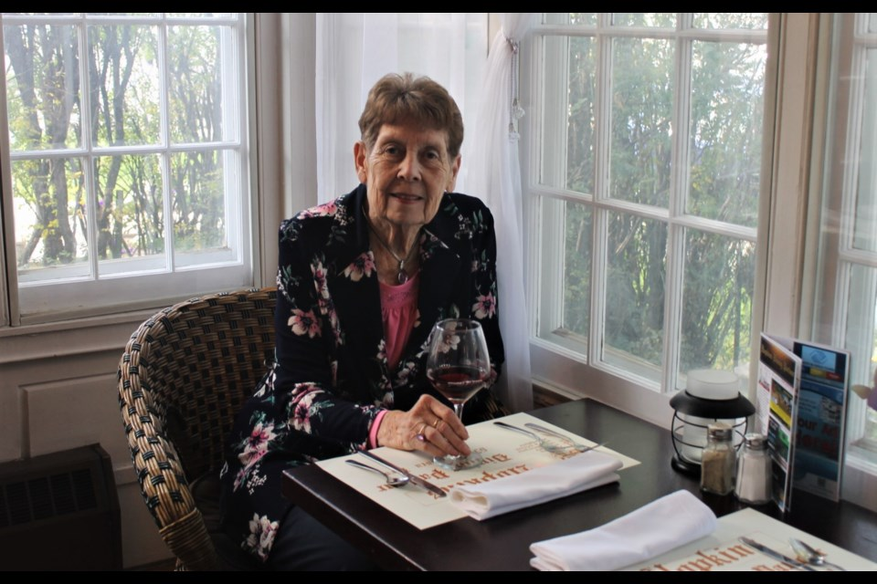 Gladys Pierce is the owner of Hopkins Dining Parlour, and is proud to be celebrating the novelty restaurant's 40th year in business.
