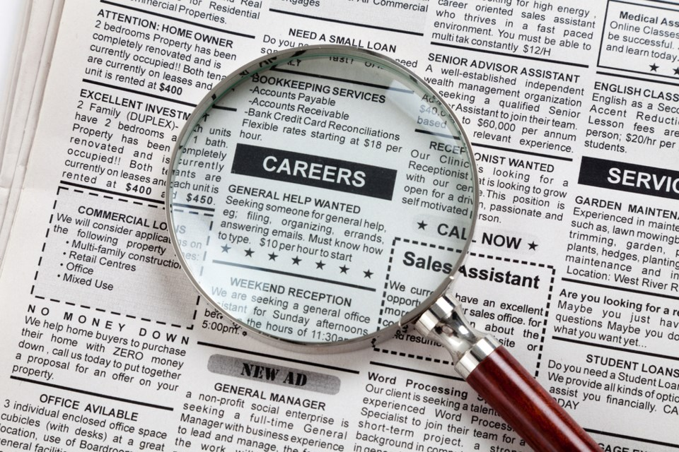 job search classified stock