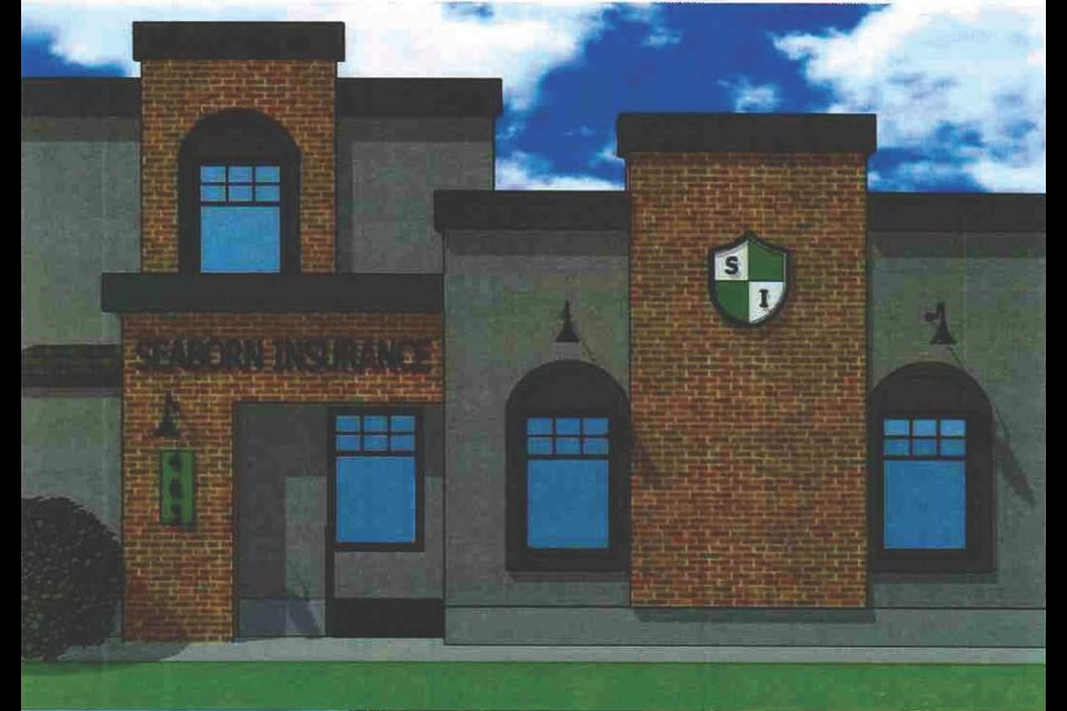 An artist's rendition of what Seaborn Insurance's building will look like after it has been renovated. Photo courtesy City of Moose Jaw