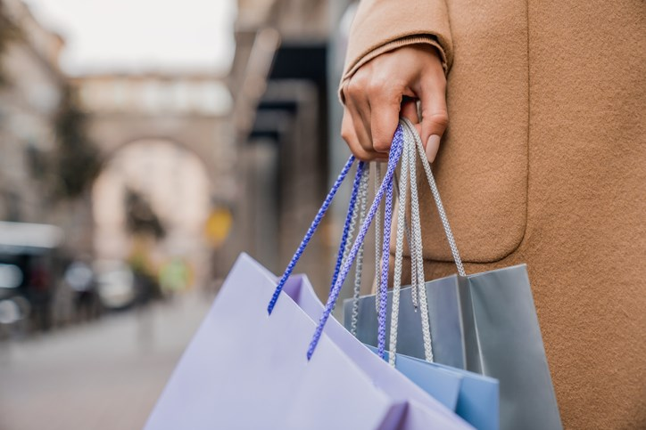 shopping bags getty images