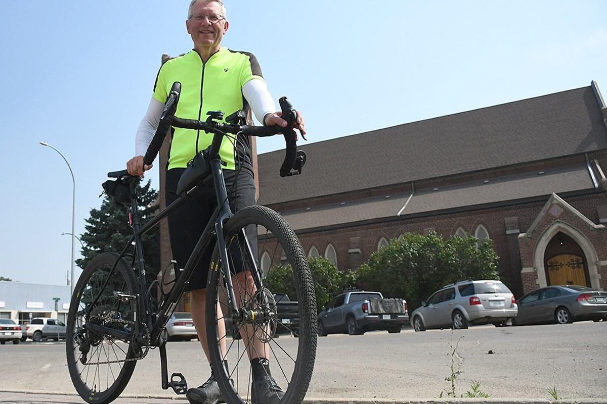 Retiring bishop stops in Moose Jaw as a part of 2,800-kilometre biking tour of diocese
