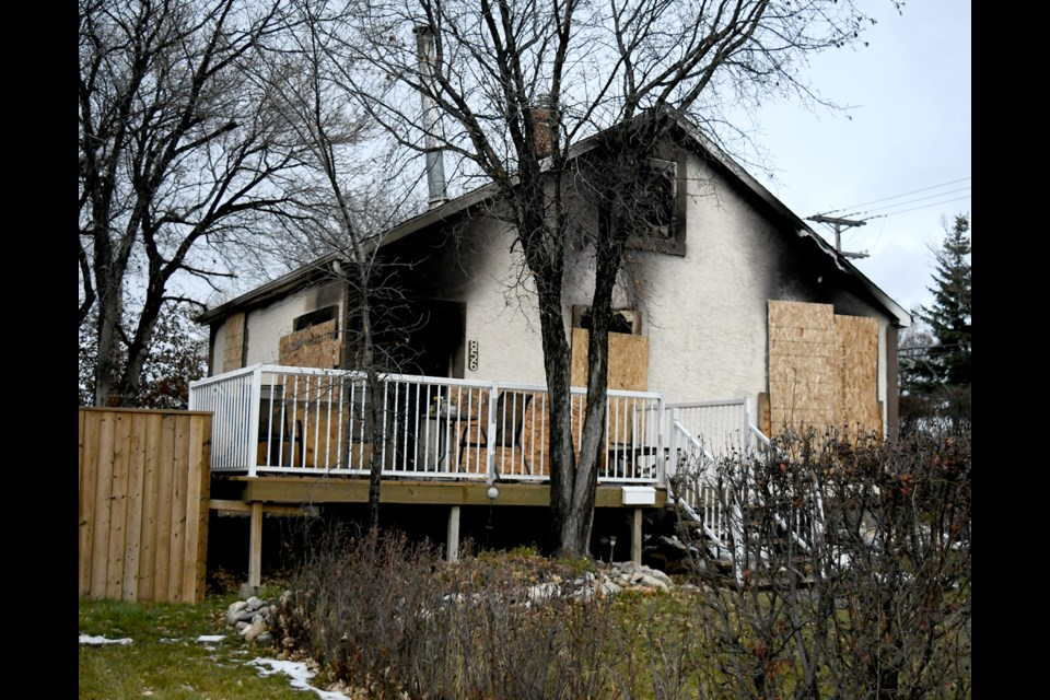 The family home of Cory and Shauna Bzdel was lost to fire on Friday afternoon.