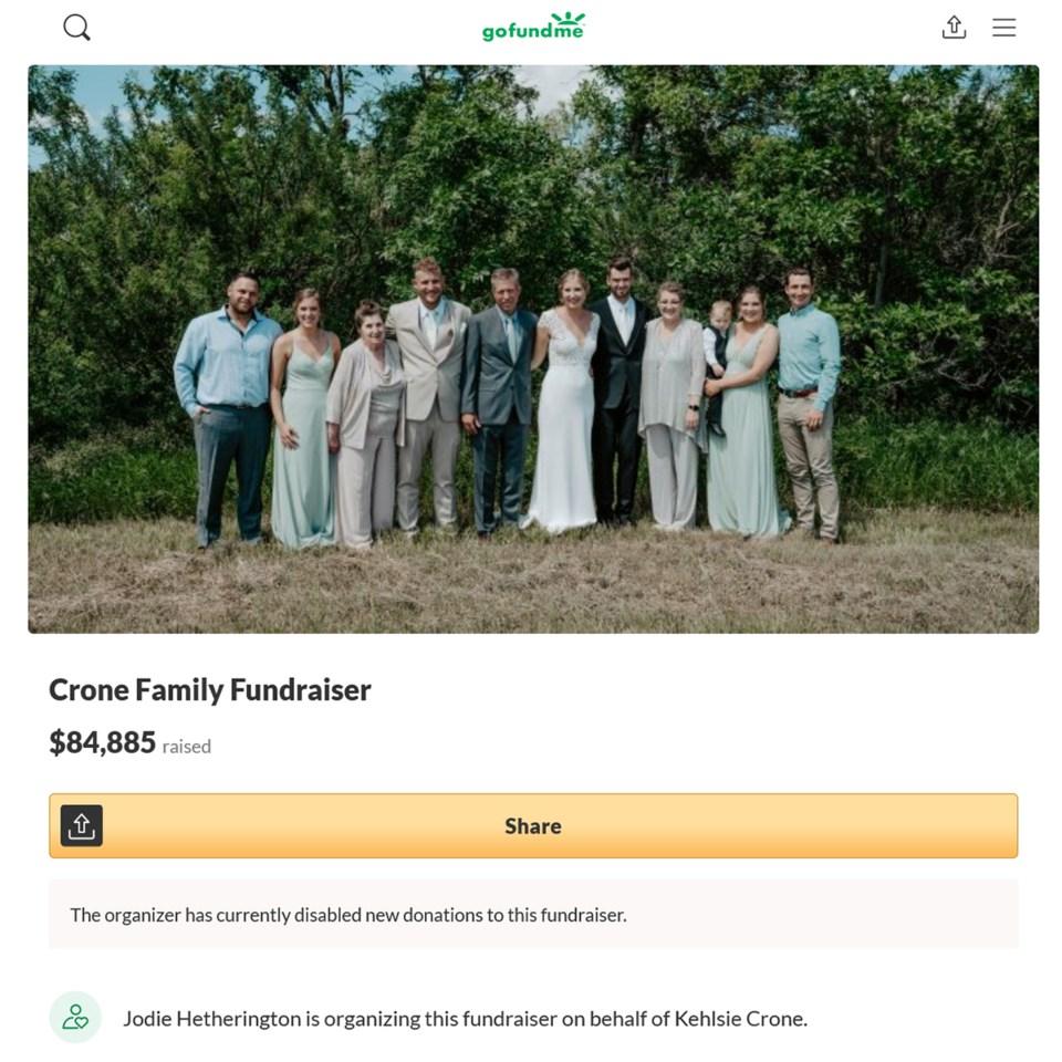 Crone family GoFundMe