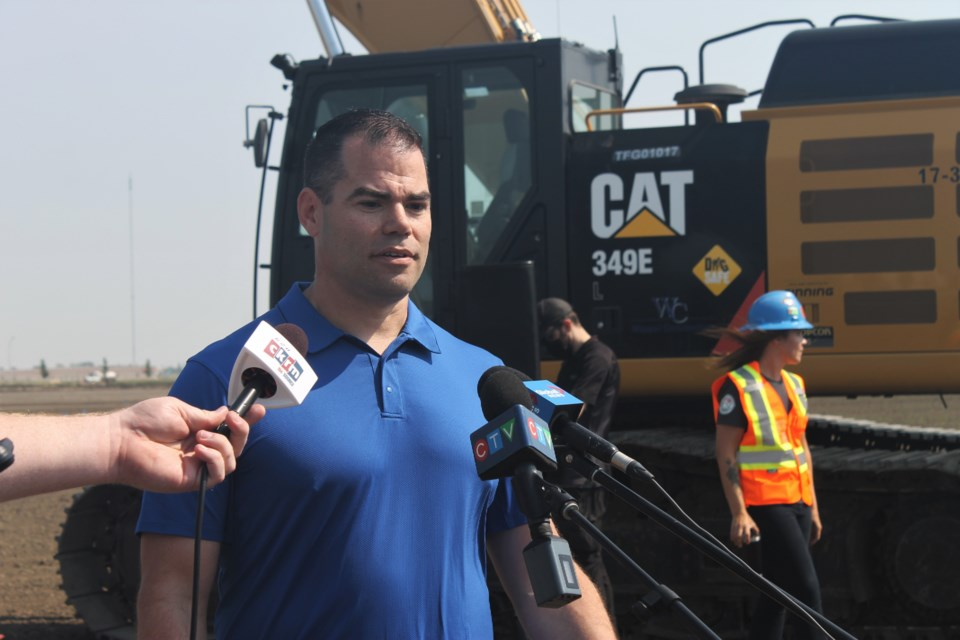 Derrick Mann, president of the Saskatchewan Common Ground Alliance, spoke on how a new ground-breaking safety training program will help reduce instances of damaging underground infrastructure lines while digging for construction.