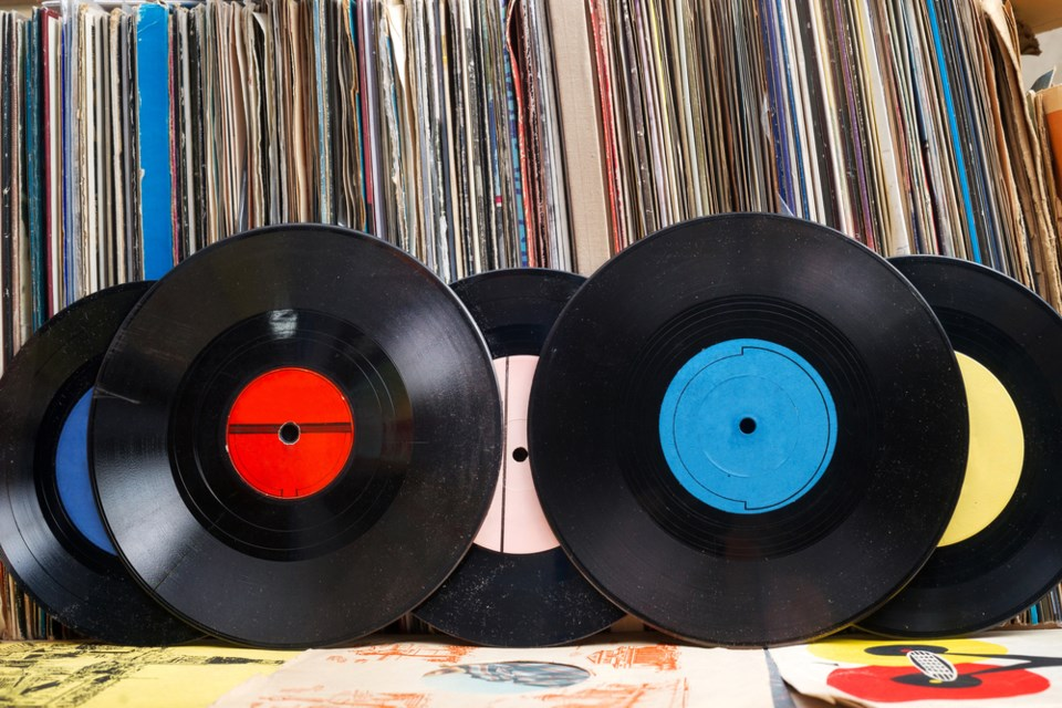 stock image of records