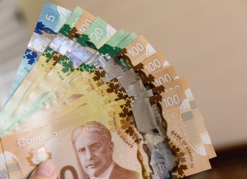 canadian money fanned out shutterstock
