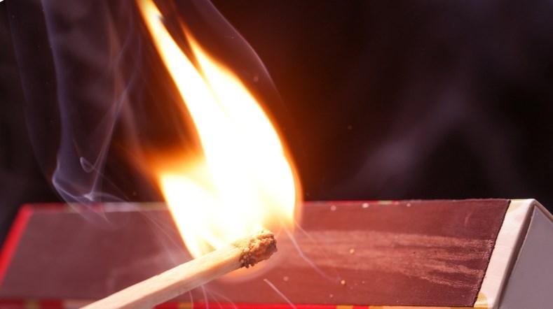 striking match arson getty images