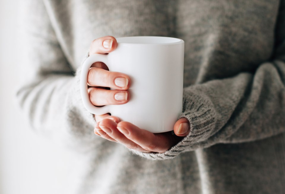 holding cup of coffee shutterstock