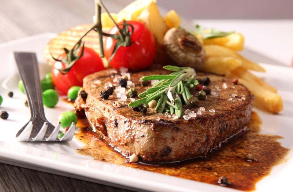 steak dinner shutterstock