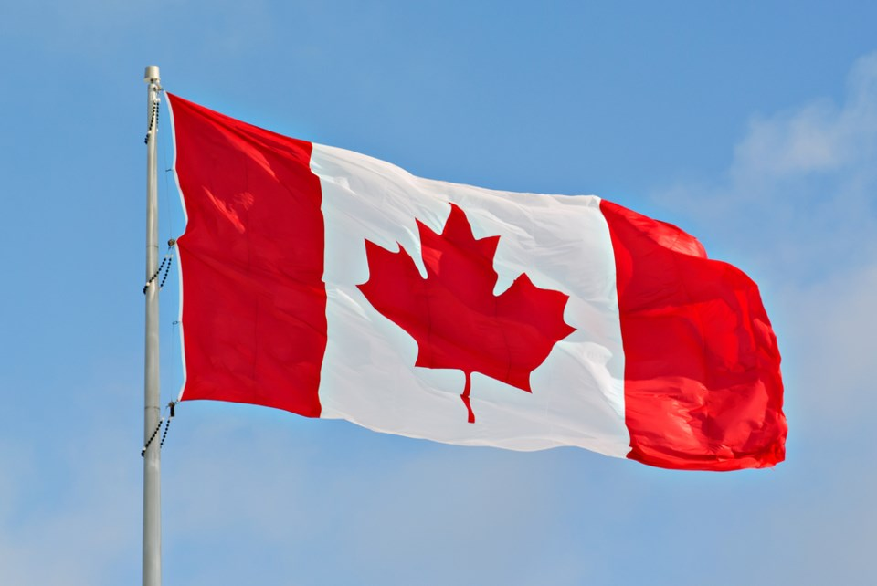 Canadian flag stock