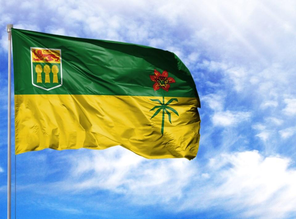 saskatchewan flag stock