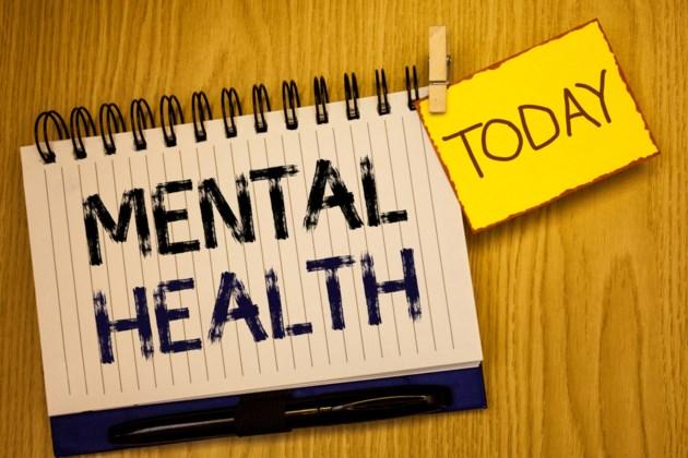 mental health illustration stock