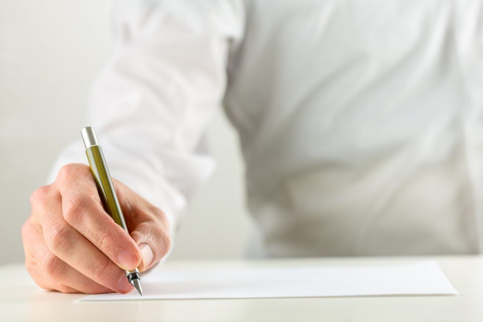writing letter shutterstock