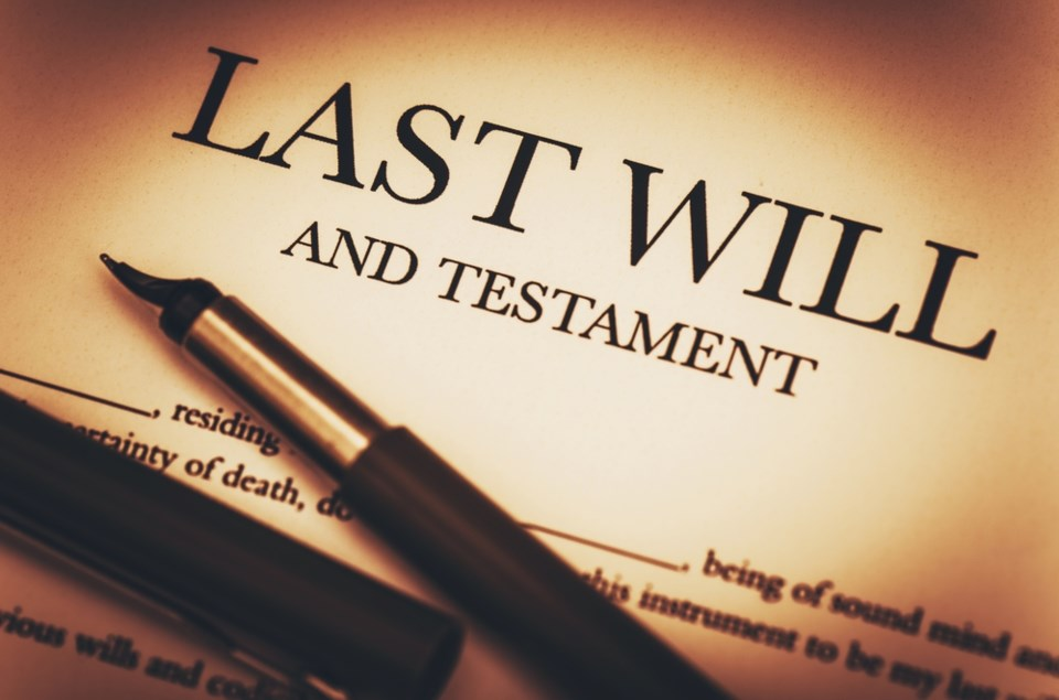 last will and testament stock