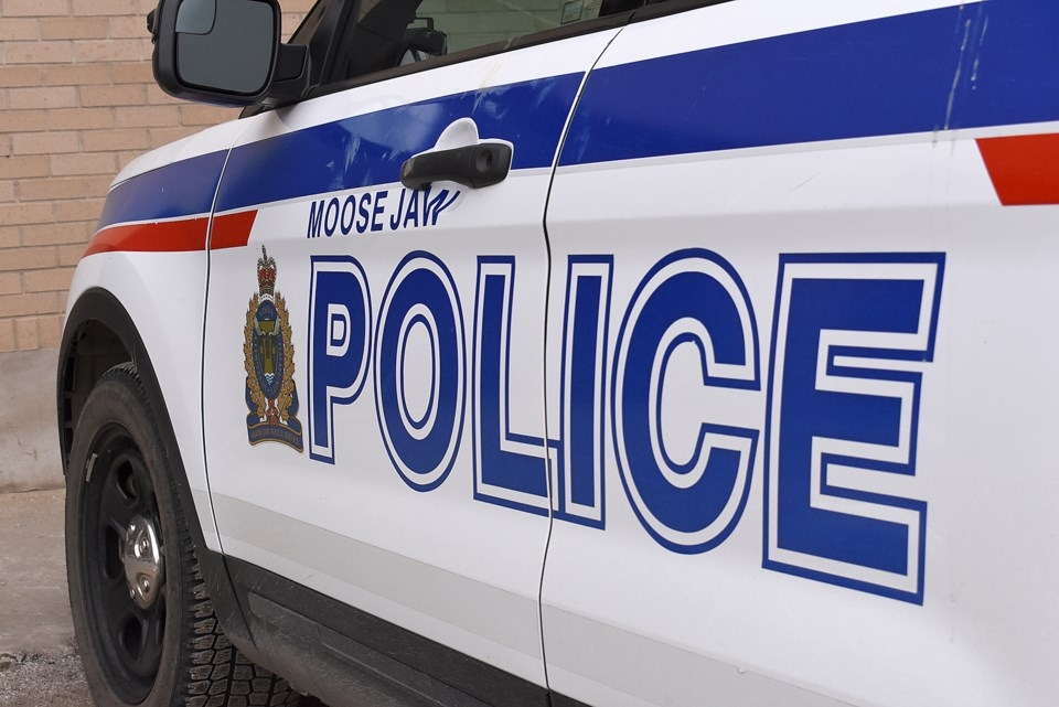 Moose Jaw police car face left