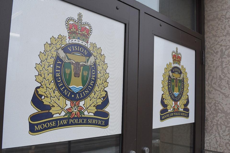 Moose Jaw police doors left