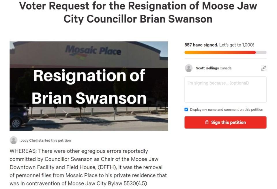 swanson resignation screen shot