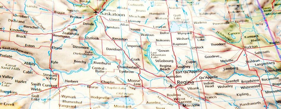 map of saskatchewan getty images