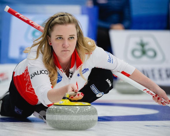 Chelsea Carey will act as Team Canada at the 2020 Scotties Tournament of Hearts in Moose Jaw. World Curling Federation/Céline Stucki photo.