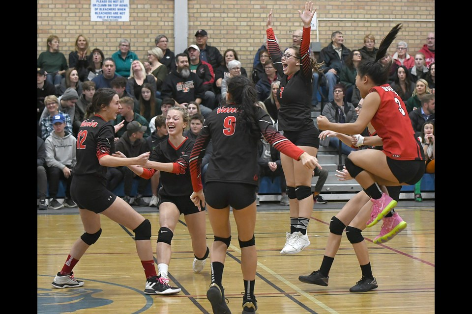 The Vanier Spirits won the provincial 4A girls volleyball championship on Saturday.