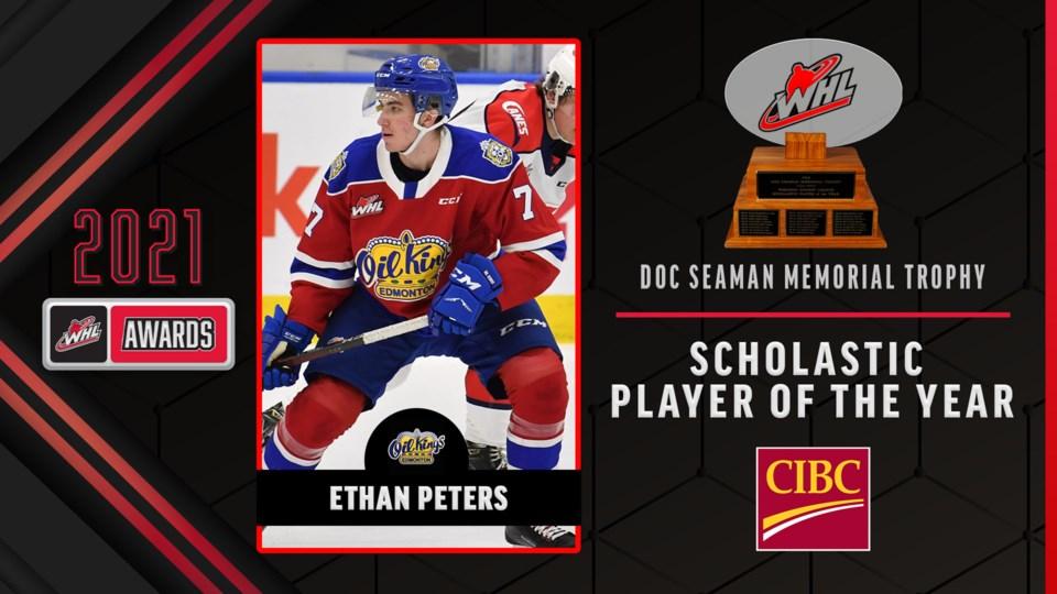 Ethan Peters WHL award