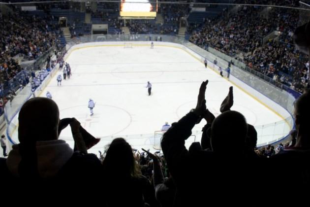 hockey crowd in arena shutterstock