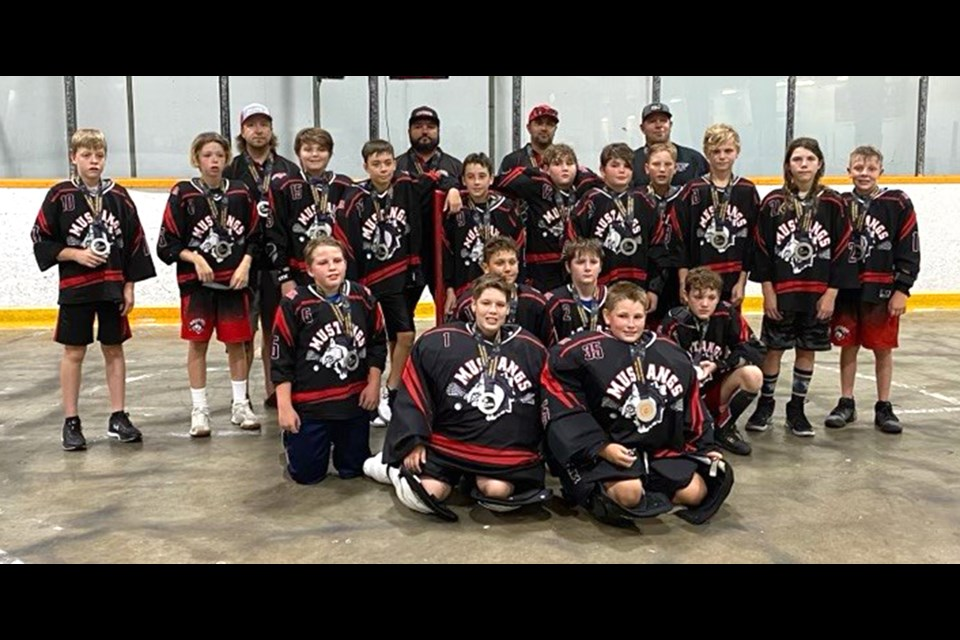 The Moose Jaw Mustangs won silver at the Sask Lacrosse provincial 12-and-under championships.