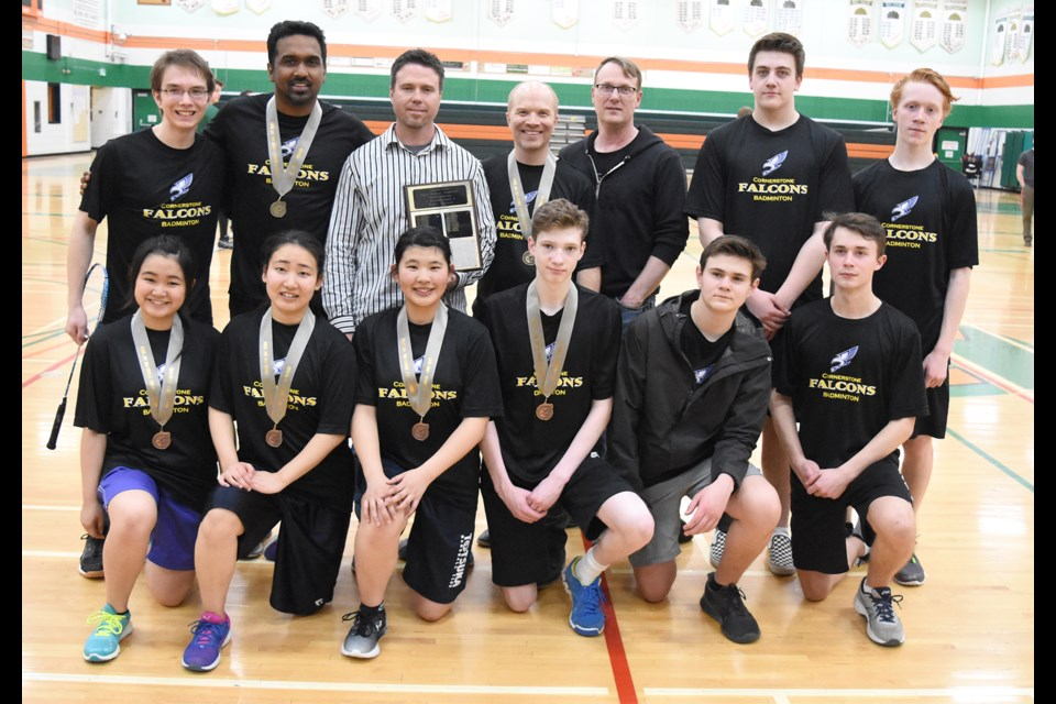 The Cornerstone Christian School Falcons came away with the school title at the high school city badminton championships.