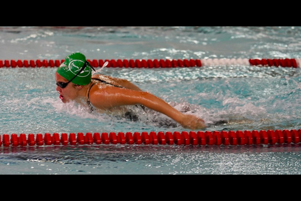 Cadence Johns in action in the pool earlier in the week. 2019wcsg photo