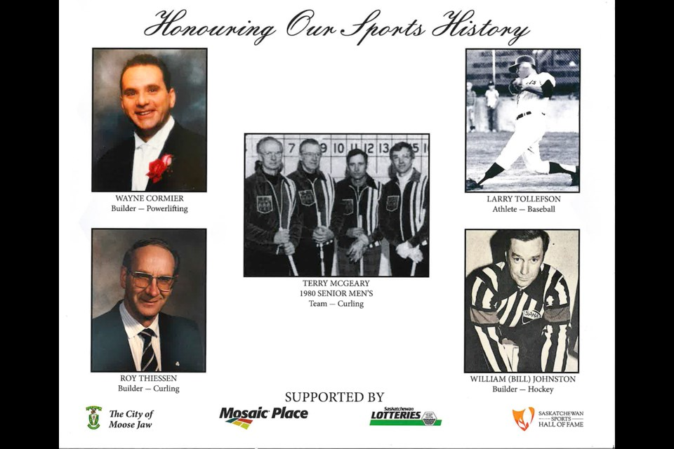 The 2019 Moose Jaw and District Sports Hall of Fame inductees.