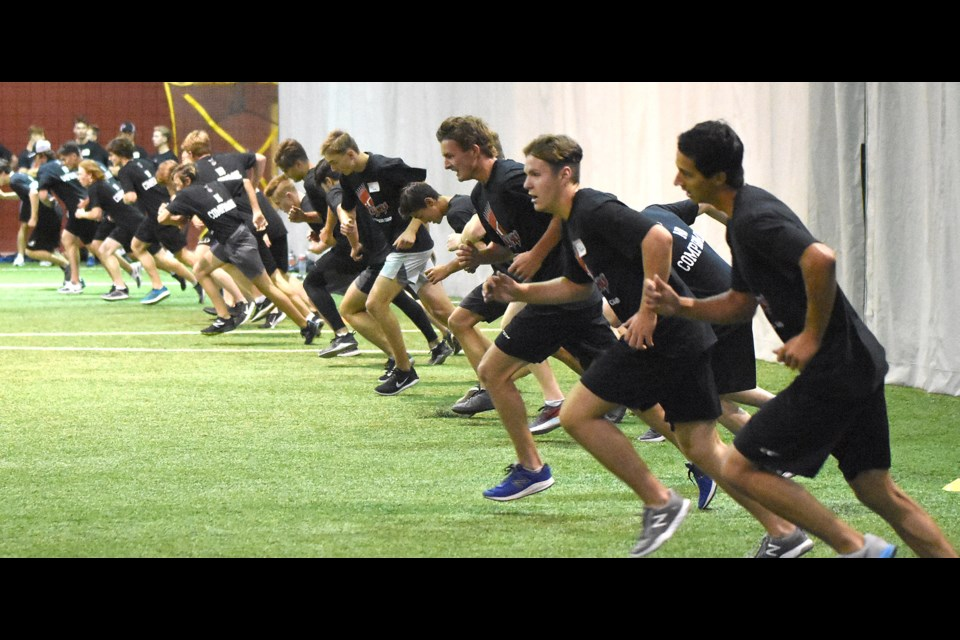 A simple concept that's brutal in execution – Warriors veterans and hopefuls alike were left plenty winded after battling through the beep test.