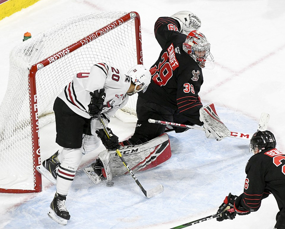 Warriors Rebels Evanoff save