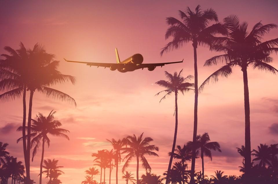 air travel tropical shutterstock