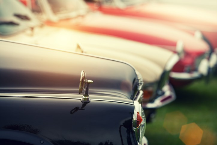 classic cars show and shine stock