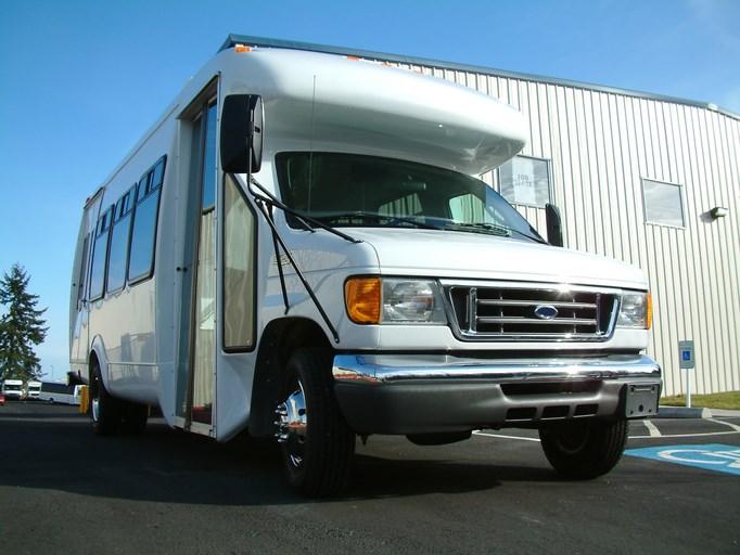 paratransit bus stock photo