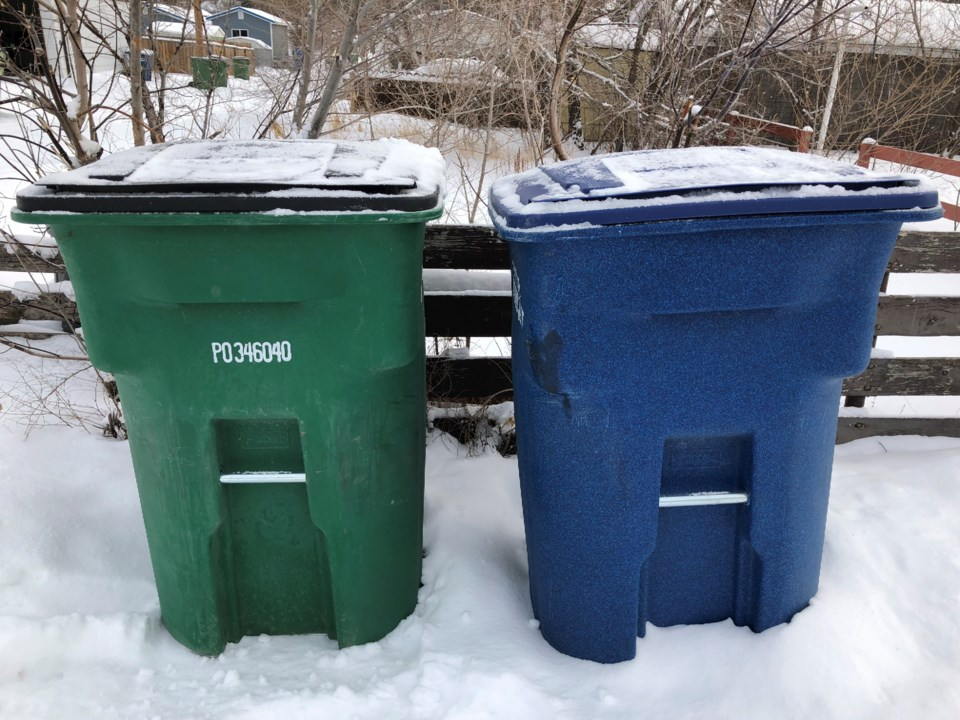 city of moose jaw garbage and recycling bins winter