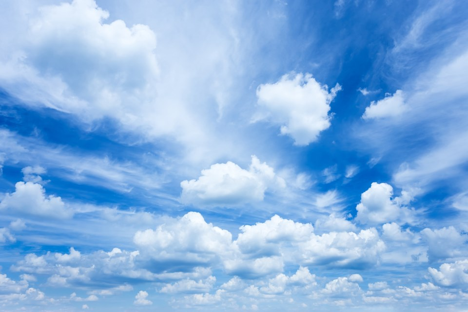 partly cloudy sky shutterstock